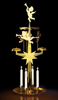 Decoration Noel Ange En Or Metal